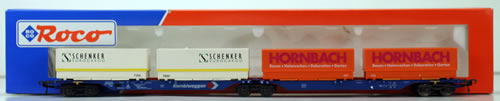 Consignment 47100 - Fleischmann 47100 Double Carrier Wagon of the DB