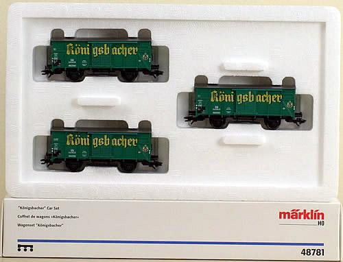 Consignment 48781 - Marklin 48781 Konigsbacher Car Set