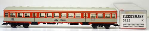 Consignment 5125 - Fleischmann 5125 CITY-BAHN 2/2nd Class Coach of the DB