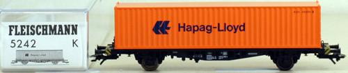 Consignment 5242 - Fleischmann 5242 Hapag-Lloyd Container Wagon