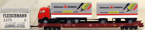 Consignment 5275 - Fleischmann 5275 Schwan Stabilo Flat Car Transport Set