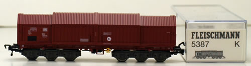 Consignment 5387K - Fleischmann 5387K Covered Wagon of the DB