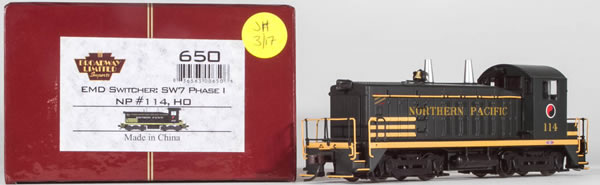 Consignment 650 - Broadway Limited USA Diesel Locomotive EMD Switcher SW7 Phase 1 #114 of the NP