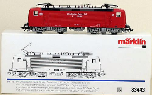 Consignment 83443 - Marklin 83443 Electric Locomotive BR 143 Delta