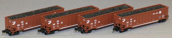 Consignment AZL9013-3 - AZL 9013-3 - 4pc Coal Transport Car Set Conrail