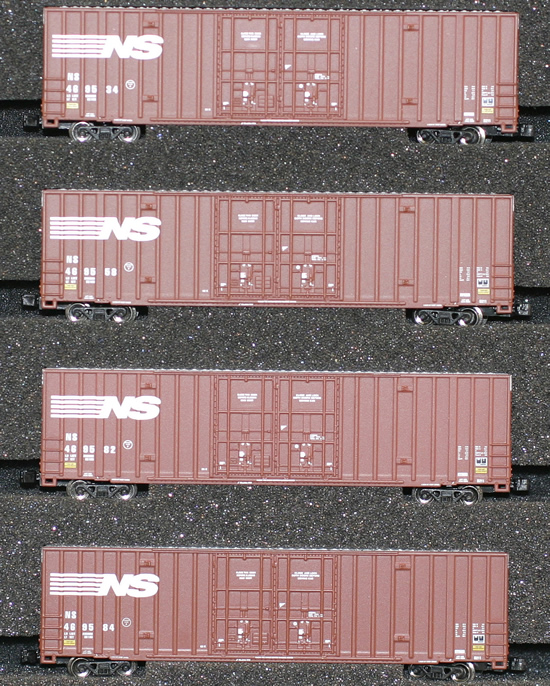 Consignment AZL90405-1 - AZL 90405-1 - 4pc 60 Gunderson Box Car Set of the NS
