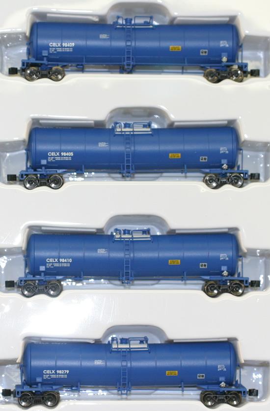 Consignment AZL90501-1 - AZL 90501-1 - 4pc 23,000 Gallon Funnel Flow Tank Car of the CELX