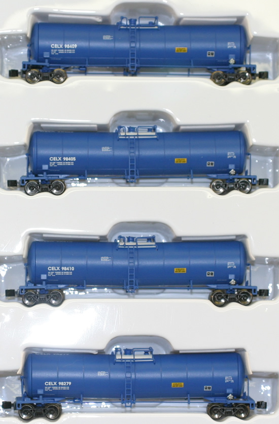 Consignment AZL90501-1 - AZL 90501-1 - 4pc 23,000 Gallon Funnel Flow Tank Car of the CELX