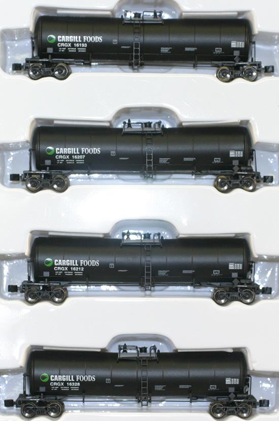 Consignment AZL90504-1 - AZL 90504-1 - 4pc 23,000 Gallon Funnel Flow Tank Car of the CRGX