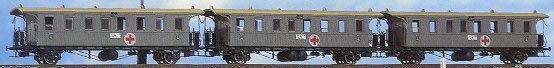 Consignment BR2159 - Brawa 2159 Set of 3 Red Cross Passenger Coaches