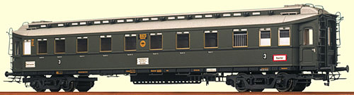 Consignment BR2444 - Brawa 2444 Express Train Coach C4uk with Kitchen of the DRG