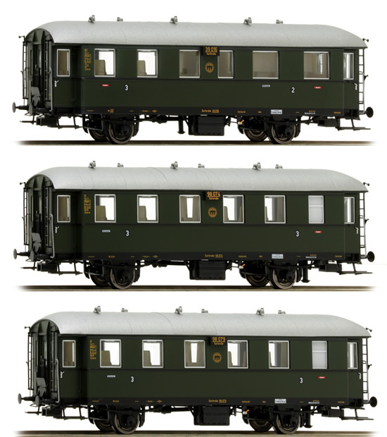 Consignment BR45500 - Brawa 45500 Personwagen 3pc Set