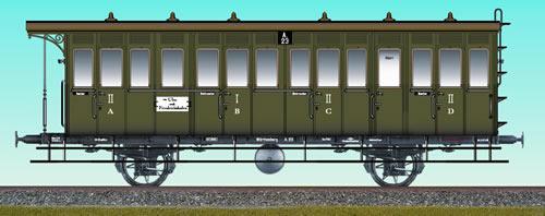 Consignment BR45601 - Brawa 45601 Passenger Coach A23 Wurttemberg