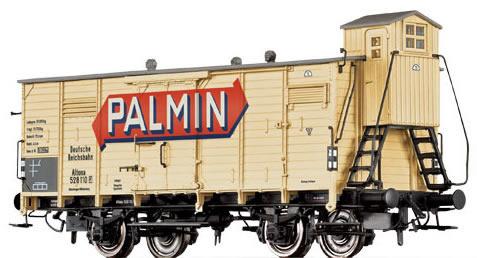 Consignment BR48248 - Brawa 48248 Palmin Box Car with Brakeman Cab
