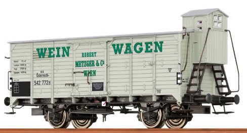 Consignment BR48255 - Brawa 48255 Robert Metzger and Company Box Car with Brakeman Cab