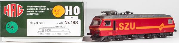 Consignment HAG188 - HAG 188 Swiss Electric Locomotive Re 4/4 of the SZU