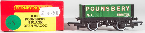 Consignment HR038 - Hornby 038 Poundsberry 5 Plank Open Wagon