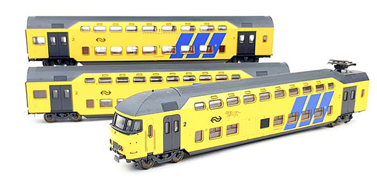 Consignment L149868 - Lima 149868 Dutch 3pc Electric Double Decker Train of the NS