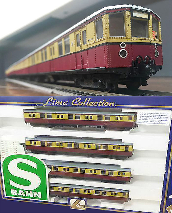 Consignment L179934 - Lima 179934 German 4pc Railcar Set of the DR