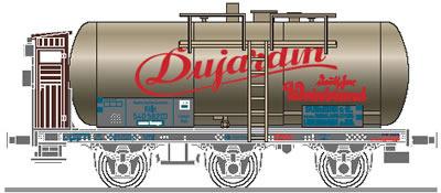 Consignment L235495 - Liliput 235495 Wine Tank Car 3 axle DUJARDIN
