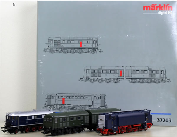 Consignment MA37203 - Marklin DRG Diesel Forefathers Locomotive Set