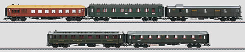 Consignment MA42767 - Marklin 42767 German 5pc Express Passenger Car Set of the DRG