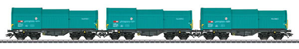 Consignment MA46870 - Marklin 46870 3pc Type Shimmns Flat Car Set with Telescoping Covers