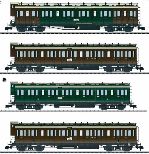 Consignment MA58026 - Marklin 58026 K.P.E.V. Passenger 4-Car Set