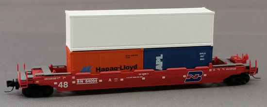 Consignment MT13002-2 - Micro-Trains 13002-2 Gunderson Husky-Stack Well Car Burlington Northern BN 64094