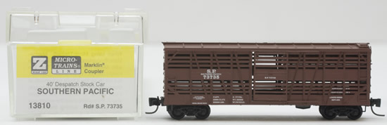 Consignment MT13810 - Micro Trains 13810 40 Despatch Stock Car of the Southern Pacific - 73735