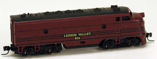 Consignment MT14005 - Micro Trains 14005 USA Diesel Locomotive F7 of the Lehigh Valley
