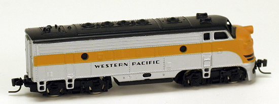 Consignment MT14006 - Micro Trains 14006 USA Diesel Locomotive F7 of the Western Pacific