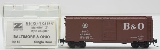 Consignment MT14115 - Micro Trains 14115 Box Car of the Baltimore & Ohio