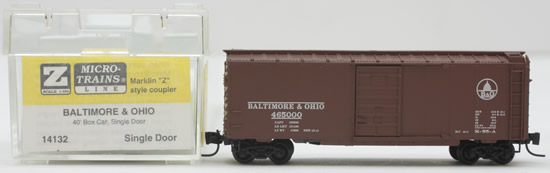 Consignment MT14132 - Micro Trains 14132 40 Box Car of the Baltimore & Ohio