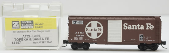 Consignment MT14147 - Micro Trains 14147 40 Standard Box Car of the Atchison, Topeka & Santa Fe – 22640