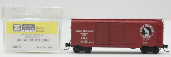 Consignment MT14802 - Micro Trains 14802 40 Standard Box Car of the Great Northern – 3350
