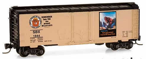 Consignment MT14922-2 - Micro Trains 14922-2 40 Standard Box Car Smokey Bear