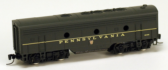 Consignment MT17009-2 - Micro Trains 17009-2 USA F7 Dummy B Unit of the PRR – 9648B