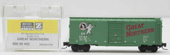 Consignment MT50000442 - Micro Trains 50000442 40 Standard Box Car of the Great Northern – 27163
