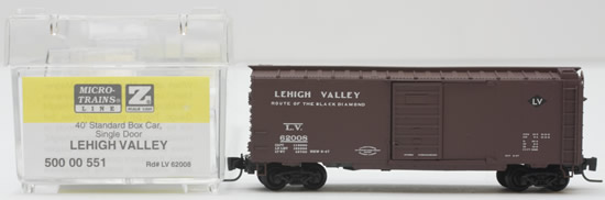 Consignment MT50000551 - Micro Trains 50000551 40 Standard Box Car of the Lehigh Valley – 62008