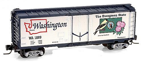 Consignment MT50200502 - Micro Trains 50200502 40 Standard Box Car Washington State Car