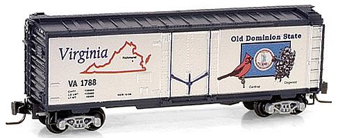 Consignment MT50200506 - Micro Trains 50200506 40 Standard Box Car Virginia State Car