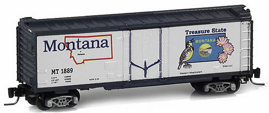 Consignment MT50200508 - Micro Trains 50200508 40 Standard Box Car Montana State Car