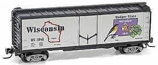 Consignment MT50200510 - Micro Trains 50200510 40 Standard Box Car Wisconsin State Car