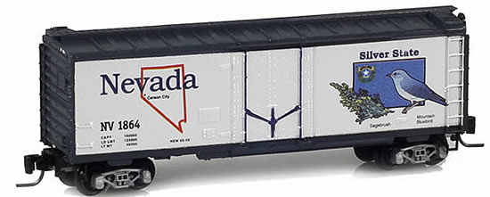 Consignment MT50200511 - Micro Trains 50200511 40 Standard Box Car Nevada State Car