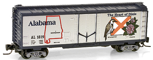 Consignment MT50200515 - Micro Trains 50200515 40 Standard Box Car Alabama State Car