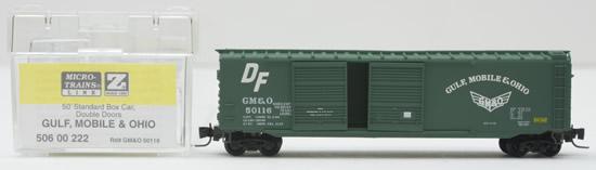Consignment MT50600222 - Micro Trains 50600222 50 Standard Box Car of the Gulf, Mobile & Ohio – 50116