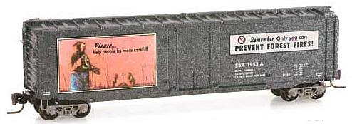 Consignment MT50700310 - Micro Trains 50700310 50 Standard Box Car Smokey Bear Forest Fire Prevention Car #1