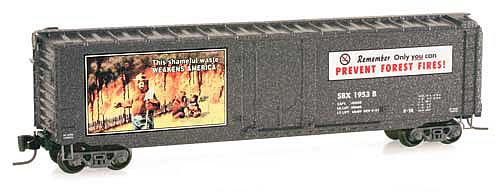 Consignment MT50700330 - Micro Trains 50700330 50 Standard Box Car Smokey Bear Forest Fire Prevention Car #3