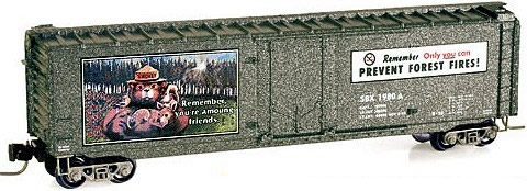 Consignment MT50700340 - Micro Trains 50700340 50 Standard Box Car Smokey Bear Forest Fire Prevention Car #4